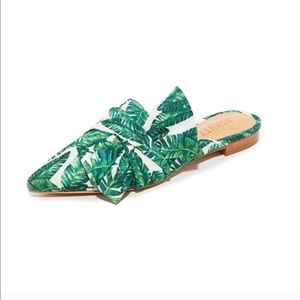 SCHUTZ • Monstera Leaf Pointed Toe Loafers